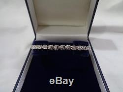 0.62 Carat Diamond set Bracelet in 9ct White Gold 7 1/4 Long