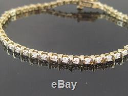 14ct Gold Diamond Tennis Bracelet 0.50 + Carat Not 9ct 18ct Immaculate 7 8 Gram