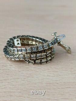 14ct Gold Yellow Solid Heavy Genuine Diamond Tennis Bracelet Not 9ct Scrap