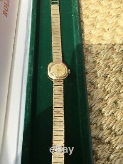 1965 Vintage Ladies Rolex Precision Dress Bracelet Watch Solid Gold 9ct Box -