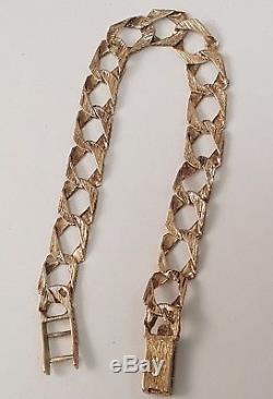 (1) Stunning 9ct Solid Gold Patterned Bracelet Full British Hallmark