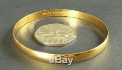 22ct Solid Gold Bangle bracelet 14.13g wearable, not scrap, not 18ct 9ct 14k 24