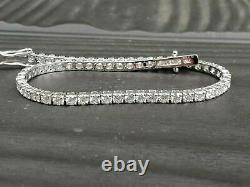 2.52 Carat Top Most Quality Natural Round Diamond Tennis Bracelet White Gold
