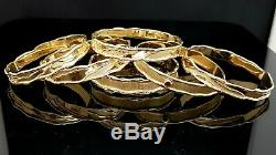 375 9ct/9k Yellow Gold Ladies Bangle Size 65 mm Solid Genuine 24.9 Grams