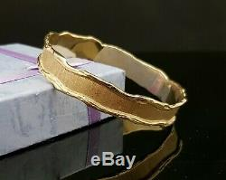 375 9ct/9k Yellow Gold Ladies Bangle Size 65 mm Solid Genuine 30.6 Grams