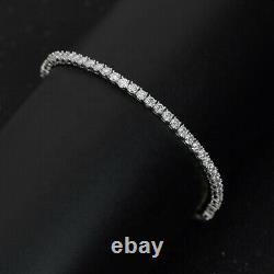 3 Ct Round Brilliant Cut Natural Diamond Tennis Bracelet Uk Hallmark White Gold