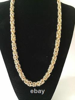 400 Gram 40 inch 9Carat Yellow Gold byzantine chain 9ct