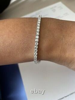 5.00 Ct F/SI 100% Natural Round Diamond Tennis Bracelet White Gold