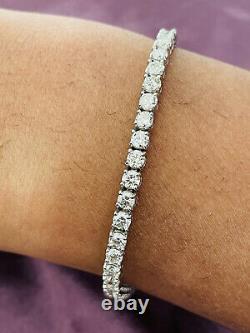 5.00 Ct Top Most Quality Round Diamond Tennis Bracelet, 18k White Gold