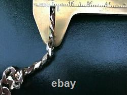 8.25 9CT SOLID HEAVY (not Hollow) GOLD CURB BRACELET FULL UK HALLMARK 31.3 gr