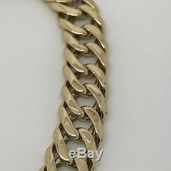 9Carat (9ct) Gold Double Curb Bracelet Solid Yellow Gold 8.75 Long 36.69g
