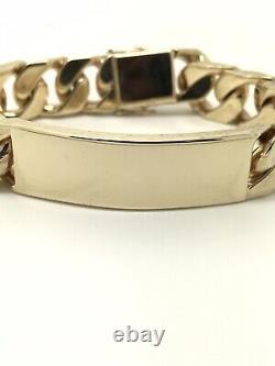9Carat (9ct) Yellow Gold Heavy ID Bracelet 3.3OZ Solid 8 102.85g
