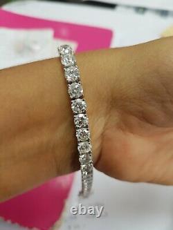 9.00CT Round Diamond Claw Set Tennis Bracelet, 18K White Gold