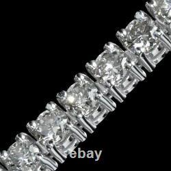 9.00 ct ROUND CUT DIAMOND TENNIS BRACELET 14K WHITE GOLD F VS1 QUALITY