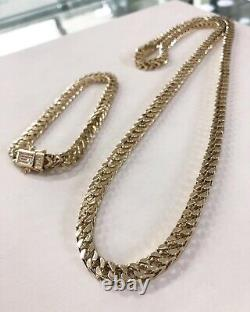 9 CT YELLOW Gold Franco Chain & Bracelet