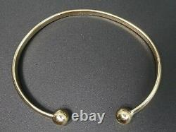 9 Ct Gold Solid Torque Bangle 15.8 Grams