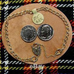 9 ct GOLD new solid charm bracelet Ref 422