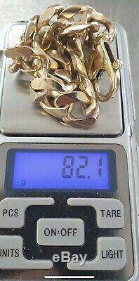9 ct gold Heavy curb bracelet Not Scrap