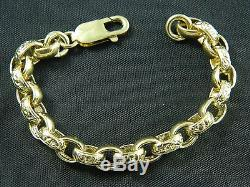 9ct / 375 Gold Boys, Girls, Kids Belcher Bracelet / 13g / 5.5 / 14cm