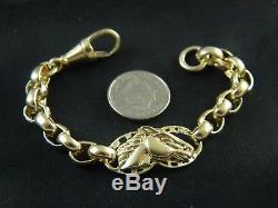 9ct / 375 Gold Boys, Kids Horse Head Bracelet / 15.4g / 6 / 15cm Brand New