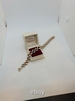 9ct/375 Tri Colour Gold Bracelet 7 & 3/4 Inch