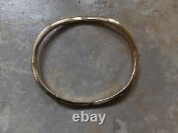 9ct (375)Yellow Gold Bangle. Fully Hallmarked. 5.9 Grams. Scrap or Wear