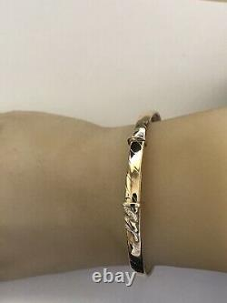 9ct. 375. Yellow Gold. Expandable Bangle. Fully Hallmarked