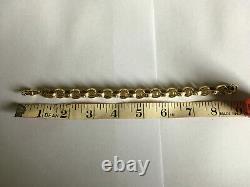 9ct/9carat Solid Gold, Man's/Men's/Gent's, Belcher Link Bracelet, 33.4 Gram's