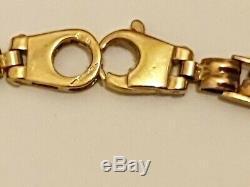 9ct 9k 375 Unusual Multi Gold Fancy Solid Bracelet near 7.5 long nice heavy