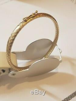 9ct 9kt yellow Gold Bangle Stunning detailed patterned 7.1 grams lovely