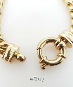 9ct Belcher Bracelet Solid Yellow Gold 62.2g 21cm Preloved RRP $5600