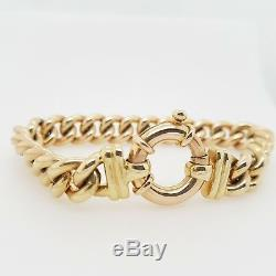 9ct Bracelet Curb link solid Yellow Gold 19.5cm 65 grams Preloved RRP $5590