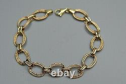 9ct FANCY GOLD BRACELET