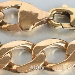 9ct GOLD CURB BRACELET MEN'S SOLID 22.7 g 8 3/4 ins SUPERB