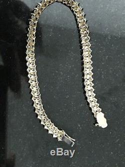 9ct Gold 1ct Diamond Bracelet Valentines Present 13.3g