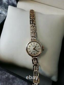 9ct Gold, 375 Stunning Rotary, Vintage Solid Gold Ladies Watch, (vgc)