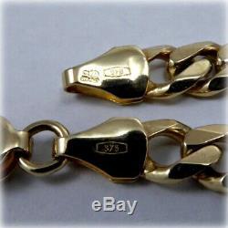 9ct Gold 7.5 Curb Link Bracelet