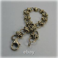 9ct Gold 7 inch Circles Bracelet