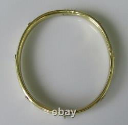 9ct Gold Bangle Secondhand (Small) 9ct Yellow Gold Hinged Bangle
