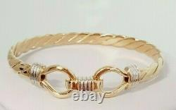 9ct Gold Bangle Twist Torque Style 13.5 grams Childs