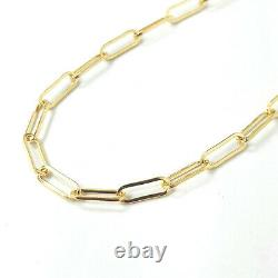 9ct Gold Belcher Bracelet Paperclip Yellow Gold NEW 3.2mm Wide 2.6g 7 Inches