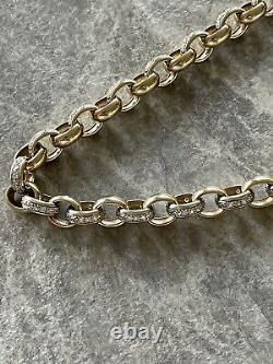 9ct Gold Belcher Chain & Bracelet heavy Not Scrap