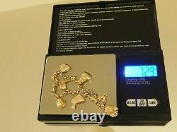 9ct Gold Charm Bracelet