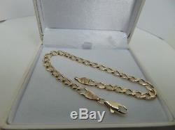 9ct Gold Curb Bracelet 8 inch B965