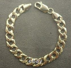 9ct Gold Curb Bracelet Child Solid New 5.9 grams Plain & Barked