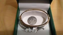 9ct Gold Diamond Bangle 9g Hallmarked Bracelet