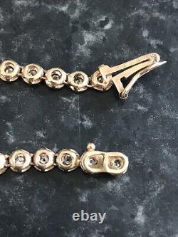 9ct Gold Diamond Tennis Bracelet 6 Grams
