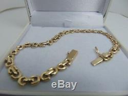 9ct Gold Fancy Double Link Bracelet B983