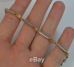 9ct Gold Fancy Link Two Tone Bracelet 6 3/4 P1891