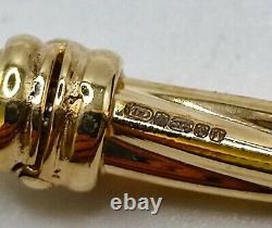 9ct Gold Fancy spiral twist bangle Oval bracelet ladies UK Hallmarked